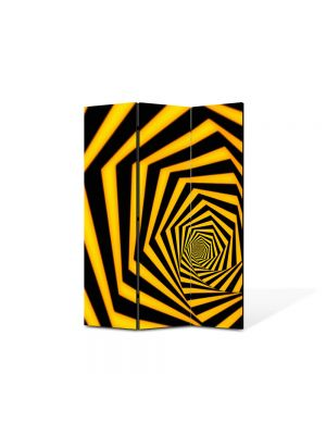 Paravan de Camera ArtDeco din 3 Panouri Abstract Decorativ Spirala spre infinit 105 x 150 cm
