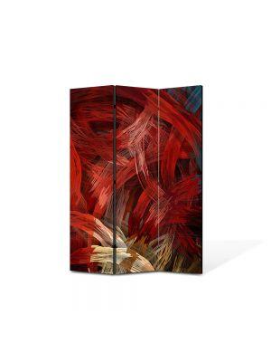 Paravan de Camera ArtDeco din 3 Panouri Abstract Decorativ Noduri stilizate 105 x 150 cm