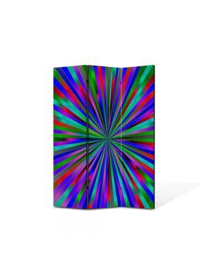 Paravan de Camera ArtDeco din 3 Panouri Abstract Decorativ Spre centru 105 x 150 cm