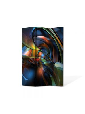 Paravan de Camera ArtDeco din 3 Panouri Abstract Decorativ Sinusoidale 105 x 150 cm