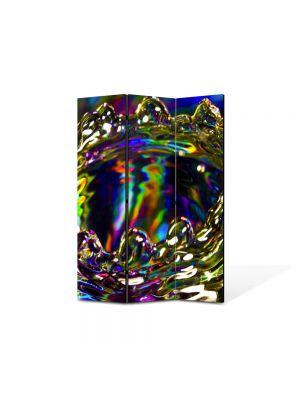 Paravan de Camera ArtDeco din 3 Panouri Abstract Decorativ Strop 105 x 150 cm