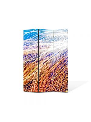 Paravan de Camera ArtDeco din 3 Panouri Abstract Decorativ Plasa de lumina 105 x 150 cm