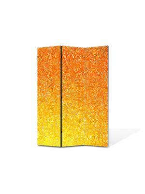 Paravan de Camera ArtDeco din 3 Panouri Abstract Decorativ Orange 105 x 150 cm