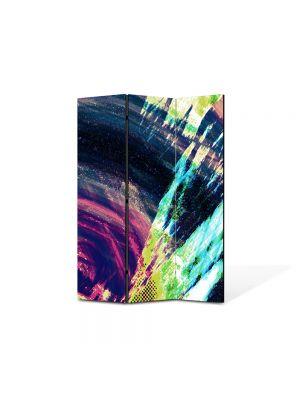 Paravan de Camera ArtDeco din 3 Panouri Abstract Decorativ Saturat 105 x 150 cm