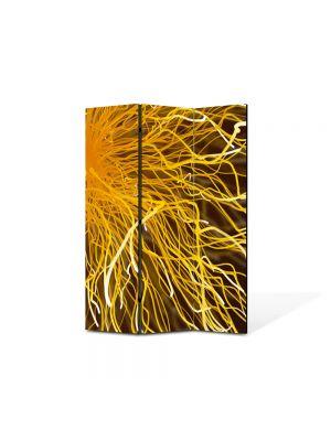 Paravan de Camera ArtDeco din 3 Panouri Abstract Decorativ Tesla 105 x 150 cm