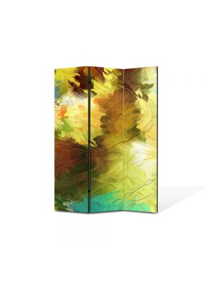 Paravan de Camera ArtDeco din 3 Panouri Abstract Decorativ Dungi de pensula 105 x 150 cm