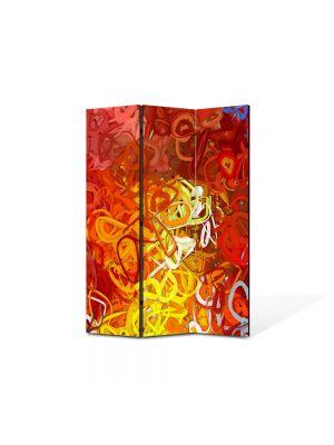 Paravan de Camera ArtDeco din 3 Panouri Abstract Decorativ Ondulat 105 x 150 cm