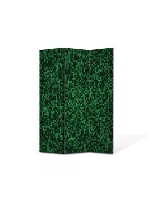 Paravan de Camera ArtDeco din 3 Panouri Abstract Decorativ Mocheta 105 x 150 cm
