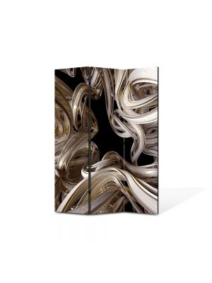 Paravan de Camera ArtDeco din 3 Panouri Abstract Decorativ Curbe 105 x 150 cm