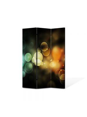Paravan de Camera ArtDeco din 3 Panouri Abstract Decorativ Lumini 105 x 150 cm