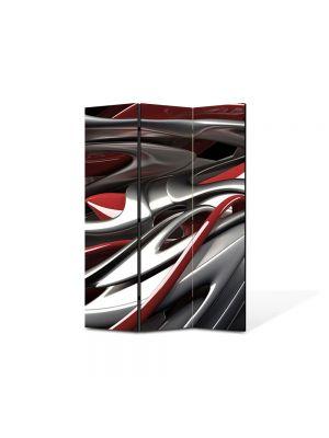 Paravan de Camera ArtDeco din 3 Panouri Abstract Decorativ Plastic topit 105 x 150 cm