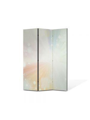 Paravan de Camera ArtDeco din 3 Panouri Abstract Decorativ Lumina puternica 105 x 150 cm