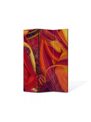Paravan de Camera ArtDeco din 3 Panouri Abstract Decorativ Spirite 105 x 150 cm
