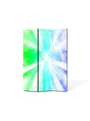 Paravan de Camera ArtDeco din 3 Panouri Abstract Decorativ Raze de lumina 105 x 150 cm