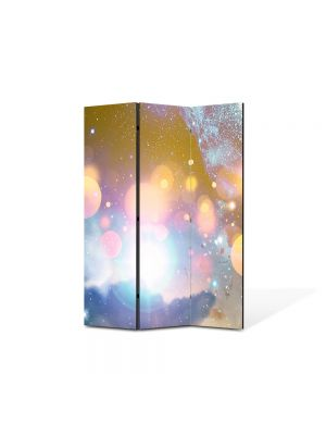 Paravan de Camera ArtDeco din 3 Panouri Abstract Decorativ Energii portocalii 105 x 150 cm