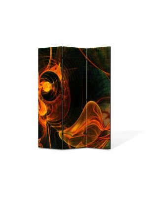 Paravan de Camera ArtDeco din 3 Panouri Abstract Decorativ Foc 105 x 150 cm