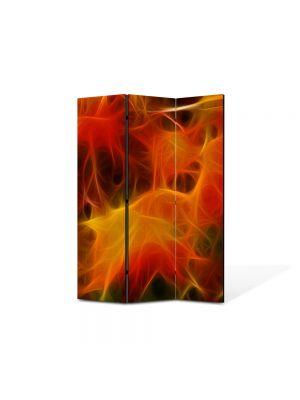 Paravan de Camera ArtDeco din 3 Panouri Abstract Decorativ Panza 105 x 150 cm