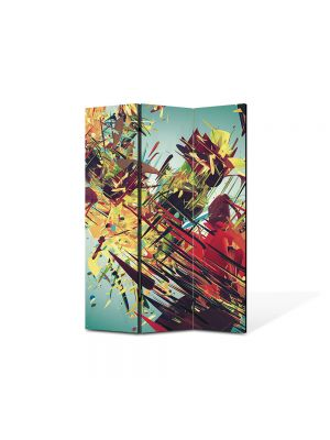 Paravan de Camera ArtDeco din 3 Panouri Abstract Decorativ Vintage abstract 105 x 150 cm