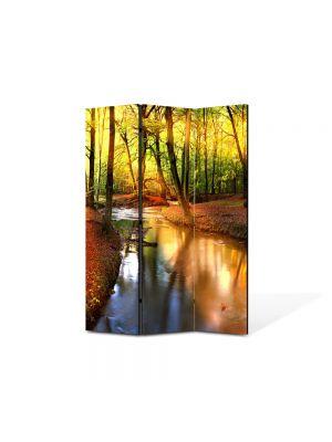 Paravan de Camera ArtDeco din 3 Panouri Peisaj Parau 105 x 150 cm