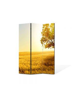Paravan de Camera ArtDeco din 3 Panouri Peisaj Copac in umbra 105 x 150 cm