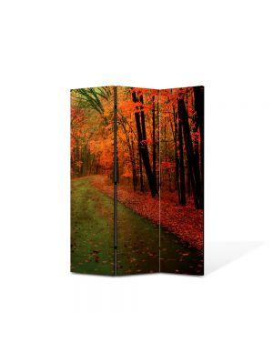Paravan de Camera ArtDeco din 3 Panouri Peisaj Dupa ploaie 105 x 150 cm