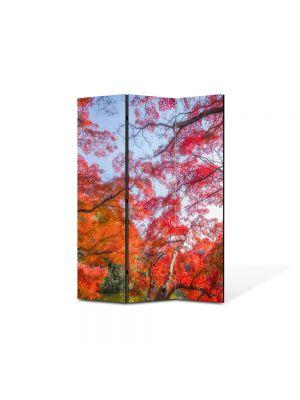 Paravan de Camera ArtDeco din 3 Panouri Peisaj Suprarealism 105 x 150 cm