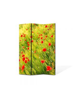 Paravan de Camera ArtDeco din 3 Panouri Peisaj Maci 105 x 150 cm
