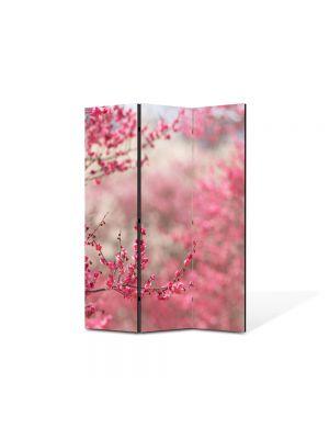 Paravan de Camera ArtDeco din 3 Panouri Peisaj Pomi fructiferi 105 x 150 cm