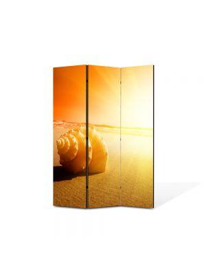 Paravan de Camera ArtDeco din 3 Panouri Peisaj Scoica 105 x 150 cm