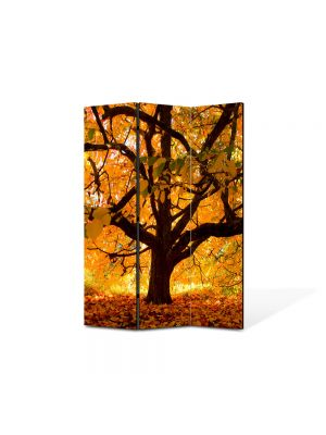 Paravan de Camera ArtDeco din 3 Panouri Peisaj Copac vesnic 105 x 150 cm