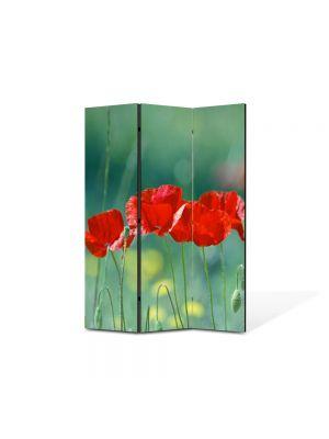 Paravan de Camera ArtDeco din 3 Panouri Peisaj Cativa prieteni 105 x 150 cm