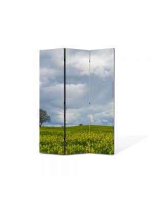 Paravan de Camera ArtDeco din 3 Panouri Peisaj Inorat 105 x 150 cm