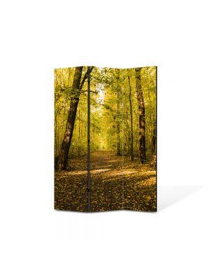 Paravan de Camera ArtDeco din 3 Panouri Peisaj Vine toamna 105 x 150 cm