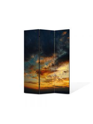 Paravan de Camera ArtDeco din 3 Panouri Peisaj Razboi 105 x 150 cm