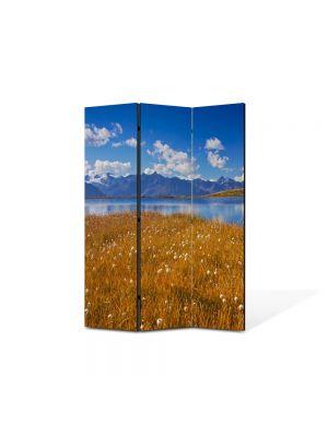 Paravan de Camera ArtDeco din 3 Panouri Peisaj Mal 105 x 150 cm