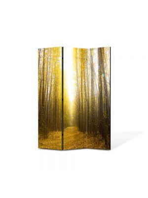 Paravan de Camera ArtDeco din 3 Panouri Peisaj Lumina puternica 105 x 150 cm