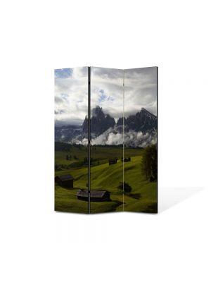 Paravan de Camera ArtDeco din 3 Panouri Peisaj Se pregateste sa ploua 105 x 150 cm
