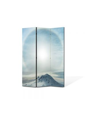 Paravan de Camera ArtDeco din 3 Panouri Peisaj Lumina 105 x 150 cm