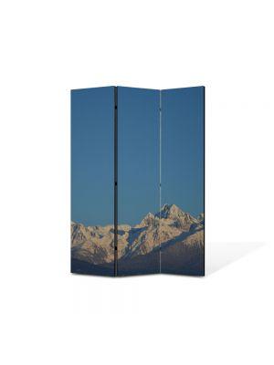 Paravan de Camera ArtDeco din 3 Panouri Peisaj Cer si munti 105 x 150 cm