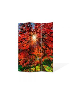 Paravan de Camera ArtDeco din 3 Panouri Peisaj Suprarealist 105 x 150 cm