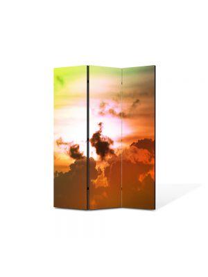 Paravan de Camera ArtDeco din 3 Panouri Peisajlori fantastice pe cer 105 x 150 cm