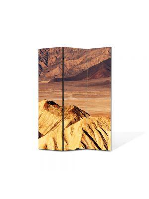 Paravan de Camera ArtDeco din 3 Panouri Peisaj Dune de nisip 105 x 150 cm