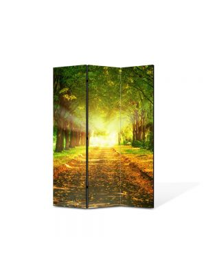 Paravan de Camera ArtDeco din 3 Panouri Peisaj Lumini fantastice 105 x 150 cm