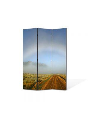 Paravan de Camera ArtDeco din 3 Panouri Peisajrcubeu atipic 105 x 150 cm