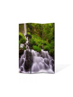 Paravan de Camera ArtDeco din 3 Panouri Peisaj Firicele de apa 105 x 150 cm