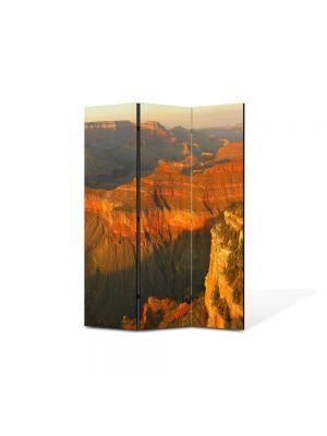 Paravan de Camera ArtDeco din 3 Panouri Peisaj Canion 105 x 150 cm