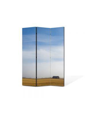 Paravan de Camera ArtDeco din 3 Panouri Peisaj Liniste 105 x 150 cm