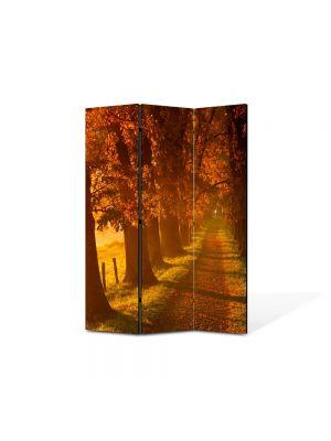 Paravan de Camera ArtDeco din 3 Panouri Peisaj Carare 105 x 150 cm