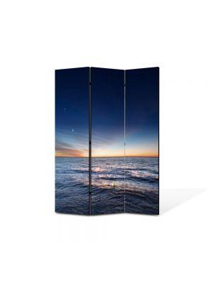 Paravan de Camera ArtDeco din 3 Panouri Peisaj Degrade 105 x 150 cm