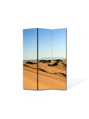 Paravan de Camera ArtDeco din 3 Panouri Peisaj Dune in desert 105 x 150 cm